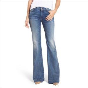 7 for All Mankind Dojo Flare Wide Leg Jeans